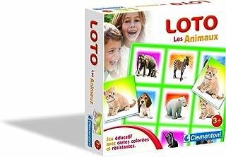 Clementoni–12831Scientific and Educational Game–Loto–Animals