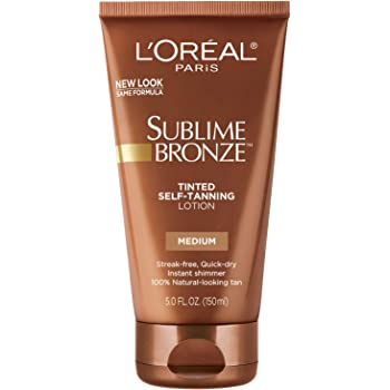 Sunless tanning lotion by L'Oreal Paris, Sublime Bronze Tinted Self-Tanning Lotion Medium Natural Tan 5 fl. oz.