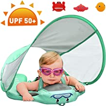 Preself Upgraded Baby Float Non-Inflatable Mambobaby Swim Ring, Infant Soft Solid..