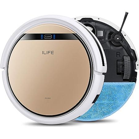 ILIFE V5s Pro Robot aspiradora, trapeador 2 en 1, delgada, aspiradora robótica automática autocargable, programa diario, ideal para pelo de mascota, suelo duro y alfombra de poca altura