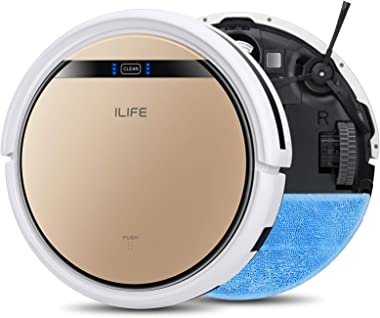 ILIFE V5s Pro, 2-in-1 Robot Vacuum and Mop, Slim, Automatic Self-Charging Robotic Vacuum, Daily Schedule, Ideal for Pet Hair,