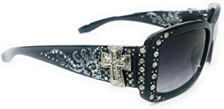 Western Ladies Rhinestone Bling Shade Sunglasses + Case