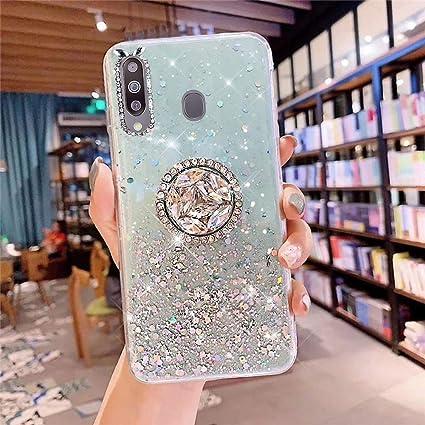 Coque pour Samsung Galaxy M30 Coque Transparent Glitter avec ...