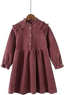 Surprise S Stripe Cotton Children Princess Dresses Girls Striped Dress Long Sleeve Autumn A Line Party Clothes