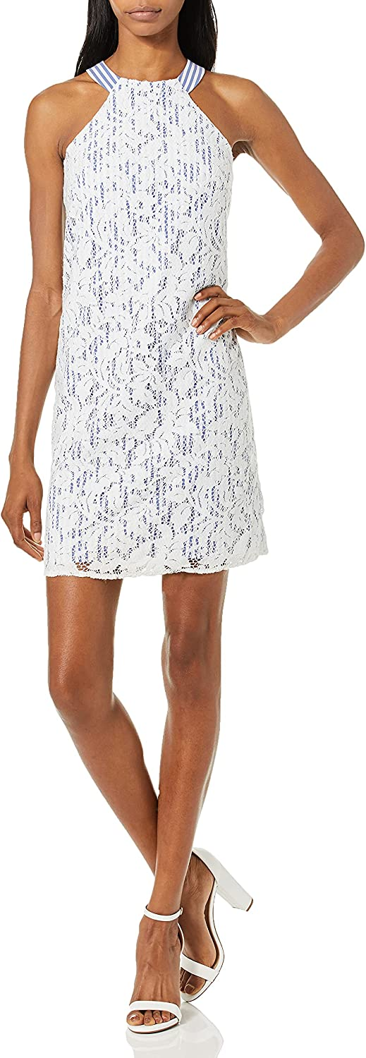 Maggy London Super beauty product Soldering restock quality top Women's Lace Halter Cocktail Dress