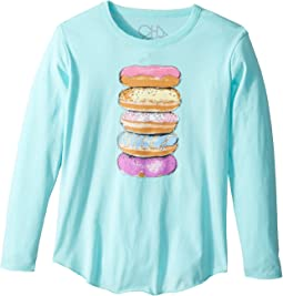Chaser Kids - Long Sleeve Super Soft Donut Tower Tee (Little Kids/Big Kids)