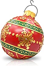 Resin Christmas Ball Ornaments Home Decor Commercial Pendants Battery Operated Led Lights Gaint Xmas Tree Decoration Snowf...