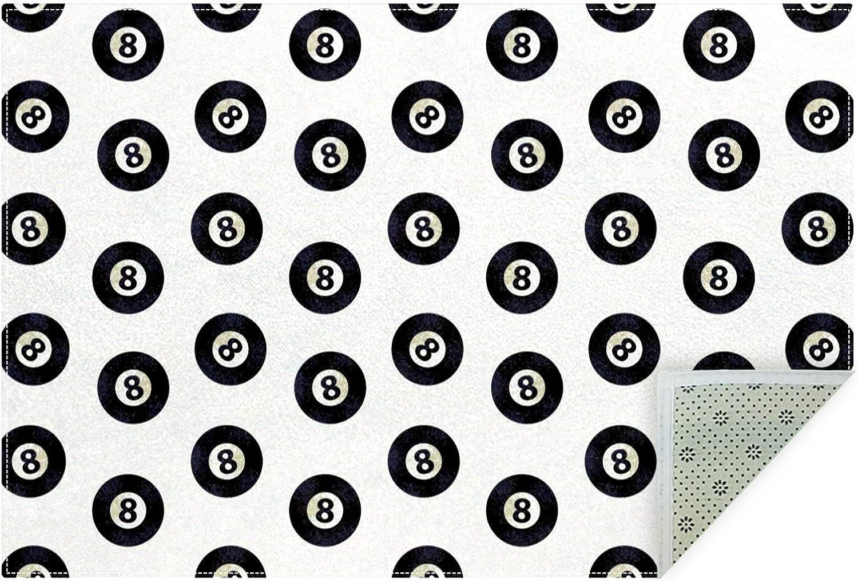 Unicey No-Shedding Non-Slip Machine Washable Blac Sacramento Mall Billiards National products Ball