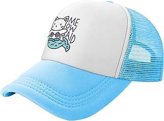 Waldeal Big Girls' Meowmaid Cat Mesh Trucker Hat Adjustable Baseball Cap