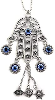 Hamsa Hand Car Charm Auto Mirror Rear view Good Luck Amulet Nazareth Store Evil Eye Charms Rear View Mirror Accessories