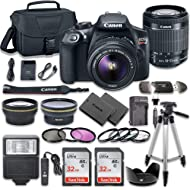 Canon EOS Rebel T6 DSLR Camera Bundle with Canon EF-S 18-55mm f/3.5-5.6 IS II Lens + 2pc SanDisk...