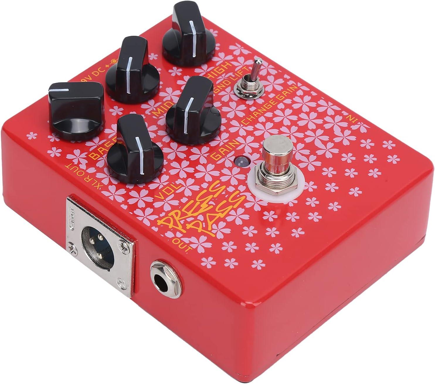 Pedal de efectos para bajo, accesorios para instrumentos Pedal de efectos para bajo Pedal de efectos de salida XLR de excelente rendimiento para amantes de la guitarra para guitarristas
