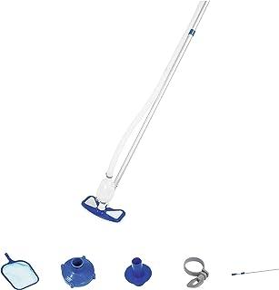 Bestway Flowclear - Set básico para el cuidado de la piscina, Aquaclean con bomba de aspiradora y red para todos los tamaños de piscinas comunes.
