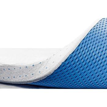ViscoSoft 3 Inch Memory Foam Mattress Topper King | Select High Density Ventilated Mattress Pad