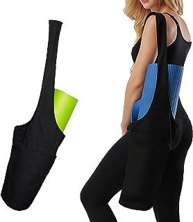 Yoga Mat Bag with Water Bottle Pocket, ONEGenug Long Strap Yoga Mat Tote Sling Carrier with Side Pocket & Zipper Pocket, F...