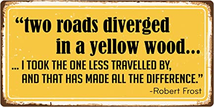 StickerPirate 1065HS Two Roads Diverged in A Yellow Wood 5