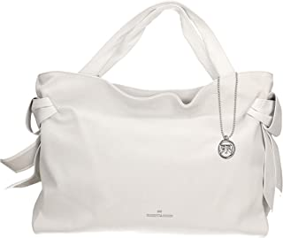 Roberta Rossi Outlet borsa shopper da donna in vera pelle Scamosciato fatta a mano in Italia, 35x42x15 cm. Made in Italy R...