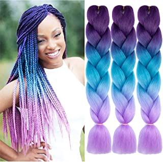 Best dark purple kanekalon braiding hair Reviews