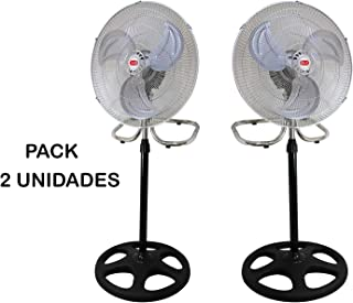 Hanking Planet Pack Ventilador DE PIE 3 EN 1, 18 Pulgadas (45 cm diámetro), 60w, transformable en 3 Variables, 2 Ventiladores 3 EN 1.