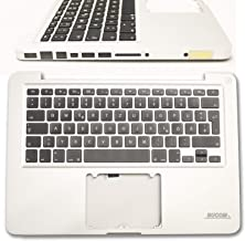Keyboard for MacBook Pro a1278 2009 2010 de Case Palmrest Palmrest with Backlight+ Clear ProtCector Cover