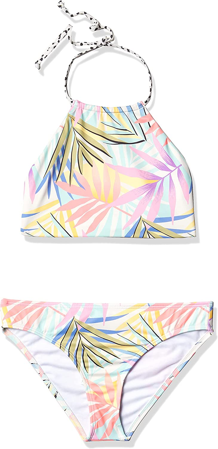 Billabong Girls' Tropic Cheap mail order specialty store Party 5 ☆ very popular Reversible Neck Set Swim High