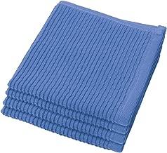 Now Designs Ripple Kitchen Dishcloth, Set of 4, Royal Blue