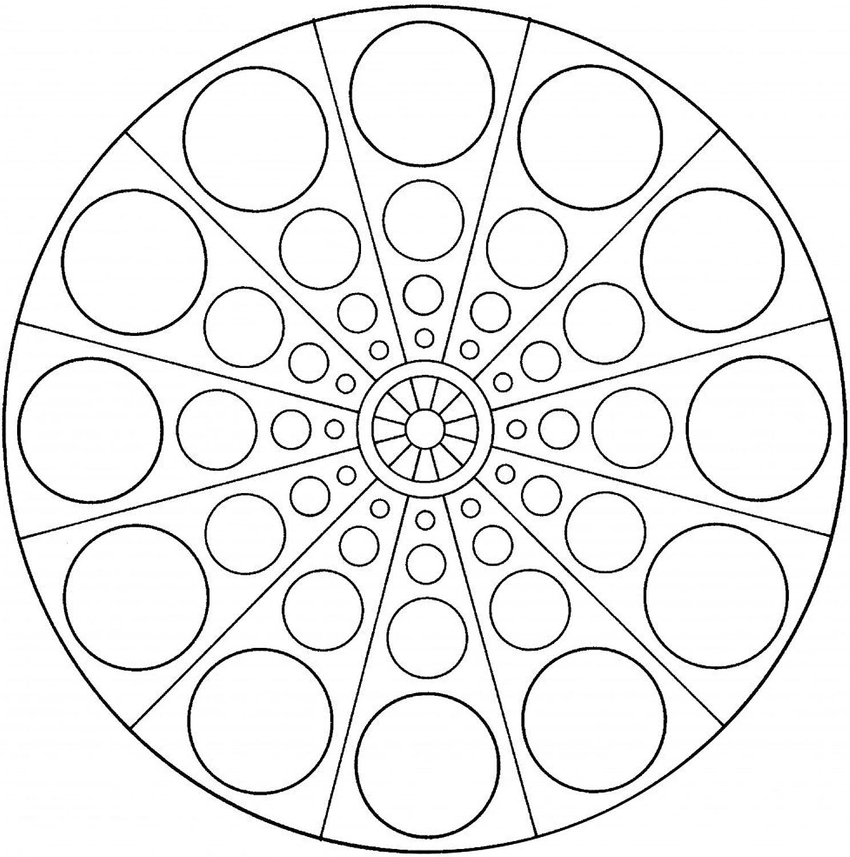 Lebensfreudeladen Mandala Leinwandmalvorlage 087 100 x 100 cm B00G28M0DE | Elegante und robuste Verpackung