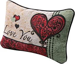 WHAT ON EARTH I Love You I Love You More Pillow - Woven Tapestry - Reversible Love Messages