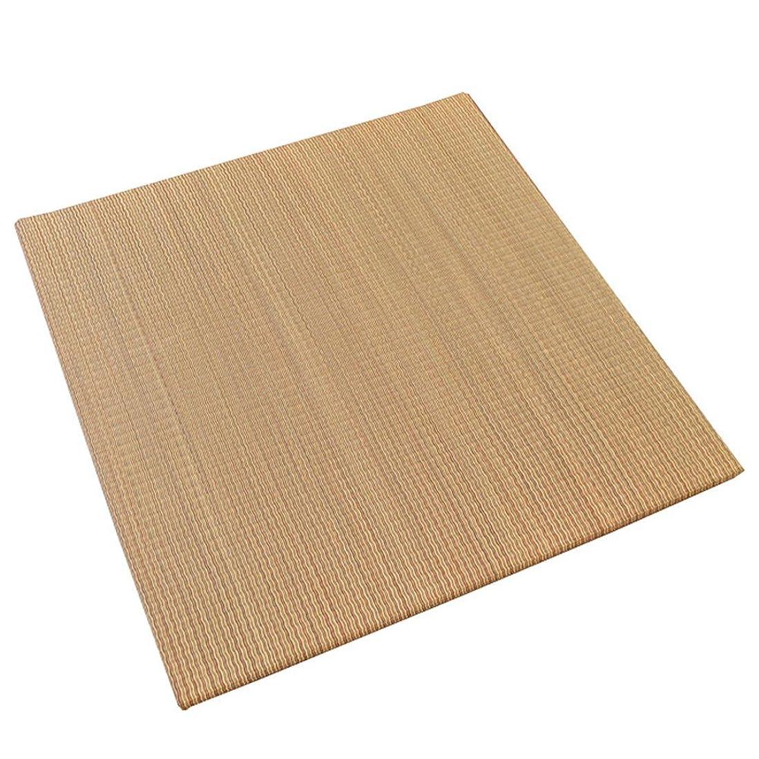潤滑するなしで引き受ける?同色6枚セット? 置き畳 半畳 ×6枚 3畳分 「綾川」 ブラウン い草 ユニット畳 ふちなし 厚み2.5cm 軽量 コンパクト 正方形 82×82cm