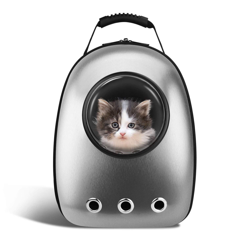 Transportryggsäck för katter med fönsterkapsel.