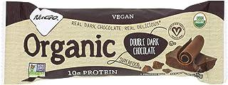 NuGo Nutrition Bar - Organic Double Dark Chocolate - 1.76 oz - Case of 12 - 95%+ Organic - Dairy Free - Kosher