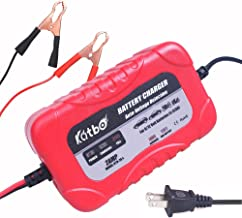 KATBO 2Amp Smart Battery Charger Maintainer 6V 12V Charging Selectivity Smart Charging Technology Sealed Lead Acid Battery Trickle Charger Maintainer for Cars Motorcycles ATVs RVs Powersports