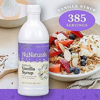 NuNaturals NuStevia Sugar-Free Vanilla Syrup Natural Stevia Sweetener with 0 Calories, 0 Sugar, 0 Carbs, 385 Servings (16 oz)