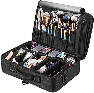 Royal Brands Travel Makeup Case, Hobby Organizer Professional Cosmetic Makeup Bag Organizer Accessories Case Tools (Medium 13.5 x 4 x 9.2 in, Black)