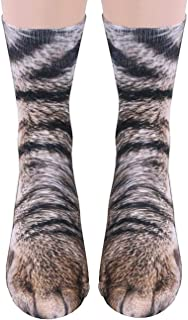 3D Socks Unisex Adult and Kids Animal Paw Crew Socks - Sublimated Print