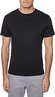 Hickey Freeman Silver Men's Short Sleeve Pima Cotton Crew Neck T-Shirt