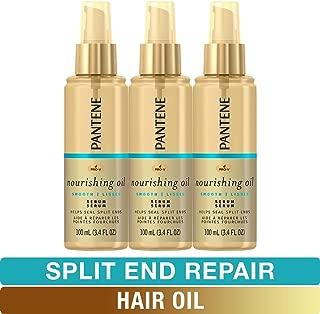 Pantene Hair Oil Treatment Serum, Pro-V Lightweight Nourishing Split End Repair, 3.4 Fl Oz, Triple Pack