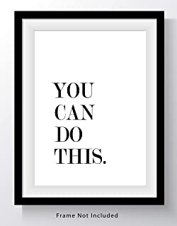 You Can Do This Motivational Word Wall Art Print - 11x14 UNFRAMED Print - Great Wall Decor for Office, Workplace, Gym, Fitness, Schools and Home.