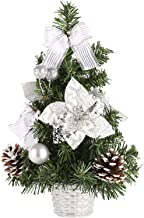 Tabletop Christmas Tree Artificial Mini Xmas Pine with Hanging Ornament Decorations Best Home Party DIY Holiday Decor
