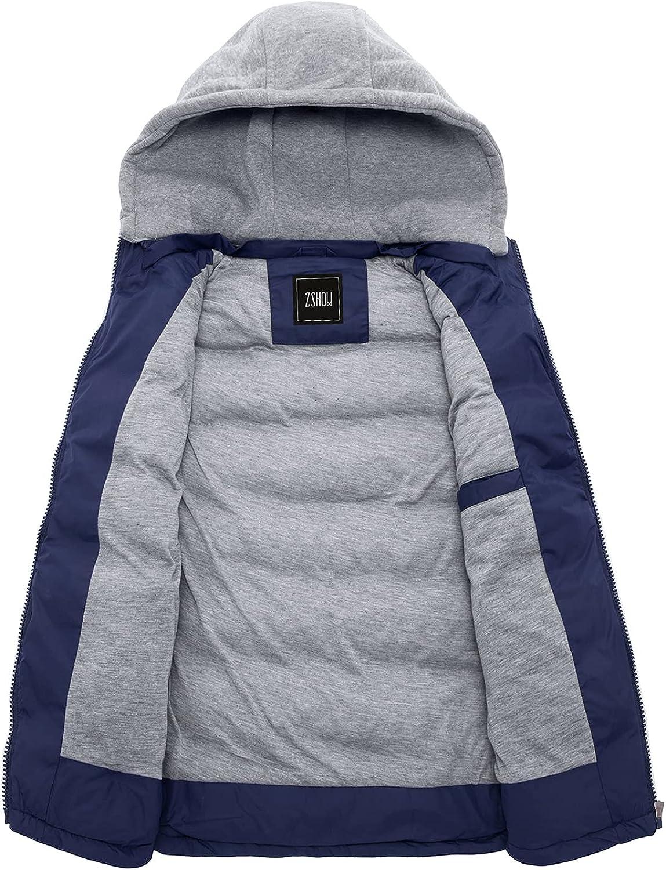 ZSHOW Men's Outdoor Vest Removable Hooded Padded Puffer Vest
