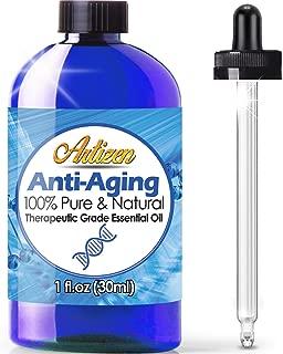 Artizen Anti-Aging blend Essential Oil (100% PURE & NATURAL - UNDILUTED) Therapeutic Grade - Huge 1oz Bottle - Blended W/Frankincense, Sandalwood, Lavender, Myrrh, Rose Geranium, Tea Tree, Lemon