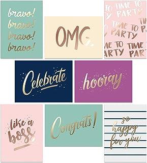 Sponsored Ad – Set of 48 Congratulations Cards – Perfect for Graduation Greeting Cards – 8 Gold Foil Congrats Design Assor...