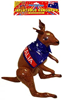 Henbrandt Inflatable Kangaroo - 65cm with Aussie Flag Cape