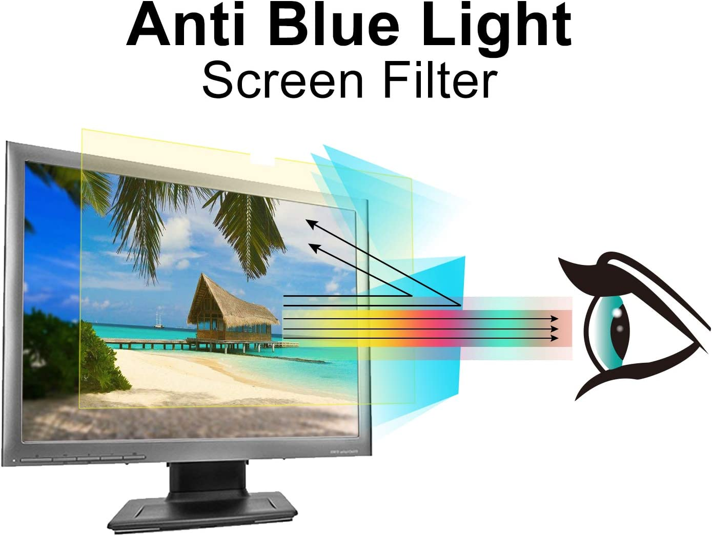Pavoscreen Blue Light Blocking Screen Filter for 19 inch Standard Monitor,Protects Eyes Anti Scratch Bubble Free PC Screen Protector(5:4 Aspect Ratio)