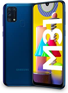 "Samsung Galaxy M31, Smartphone, Display 6.4"" Super AMOLED, 4 Fotocamere Posteriori, 64 GB Espandibili, RAM 6GB, Batteria 6..."