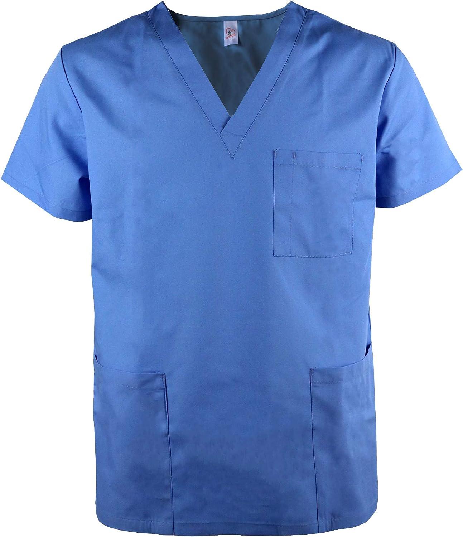 JONATAHN Uniform Unisex Tunic Top Super Special SALE held Short Wo with Max 48% OFF 3 Pockets Sleeve