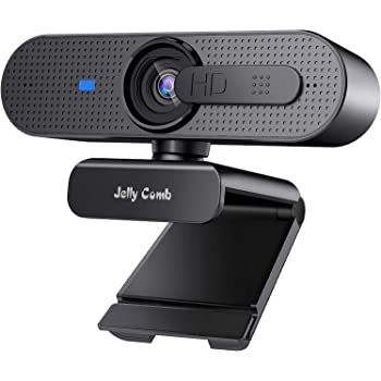 1080P Webcam with Privacy Shutter, Jelly Comb HD Autofocus Webcam, Computer Web Camera with Mic for Streaming, Skype, Video Calling, Conferencing, Recording