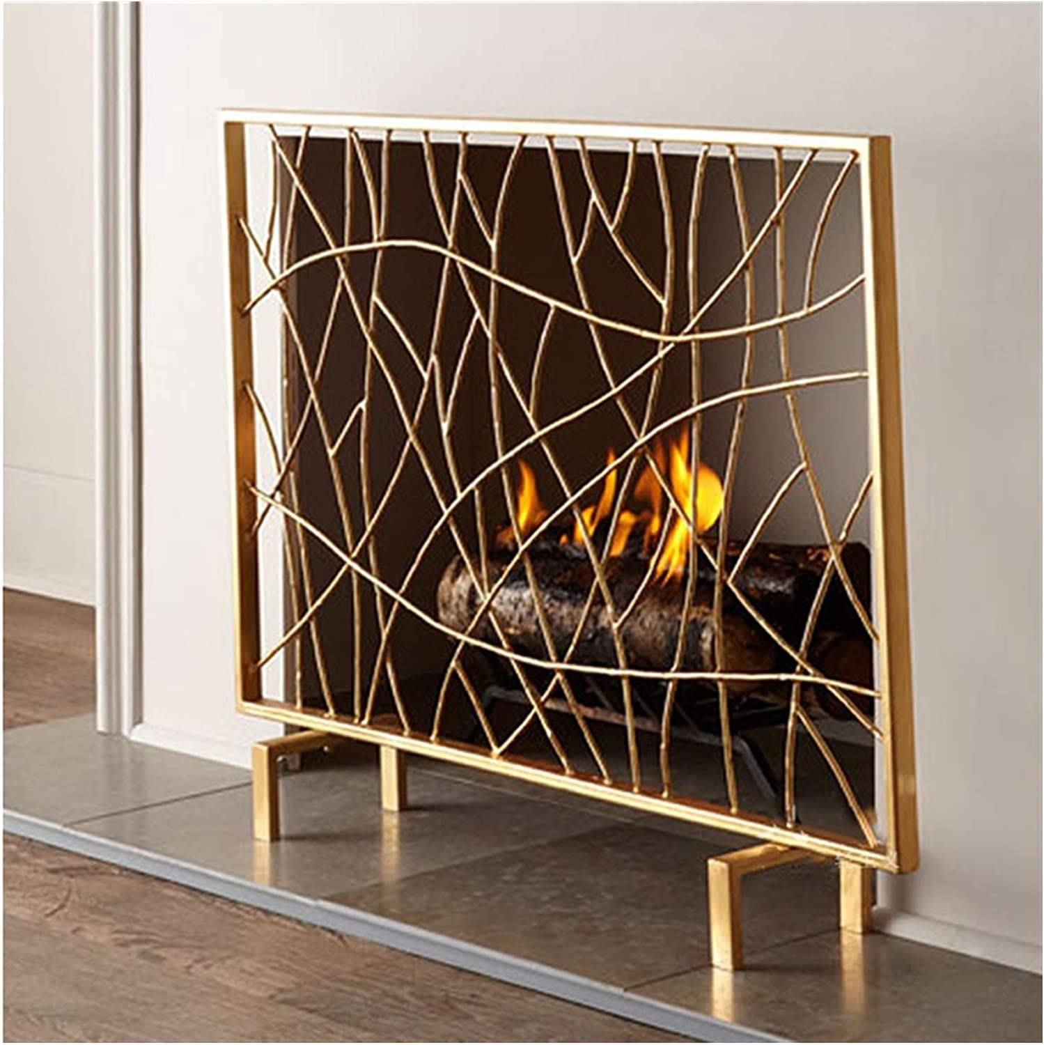 Large-scale sale barture Freestanding Fireplace Screen Iron with Mesh security Stain Fire