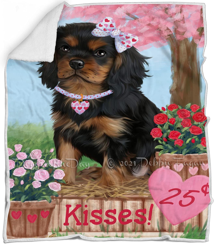 Rosie 25 Cent Kisses Cavalier King Dog - Charles SALENEW very popular! Blanket Spaniel New Free Shipping