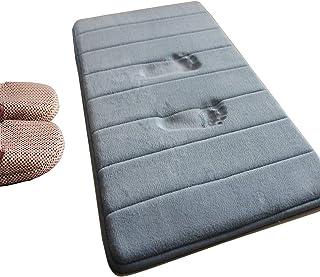 バスマット風呂マット滑り止めマット柔らかくて快適な超高密度繊維お風呂マット、デオドラント、抗菌、吸水、速乾性、キッチン、バスルーム、部屋の入り口用の滑り止めマット(50X80cm)